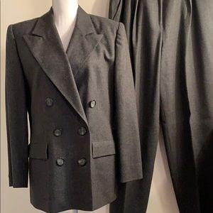 Evan Picone Gray Wool Suit-Sz 12 Jacket, 16 Pants